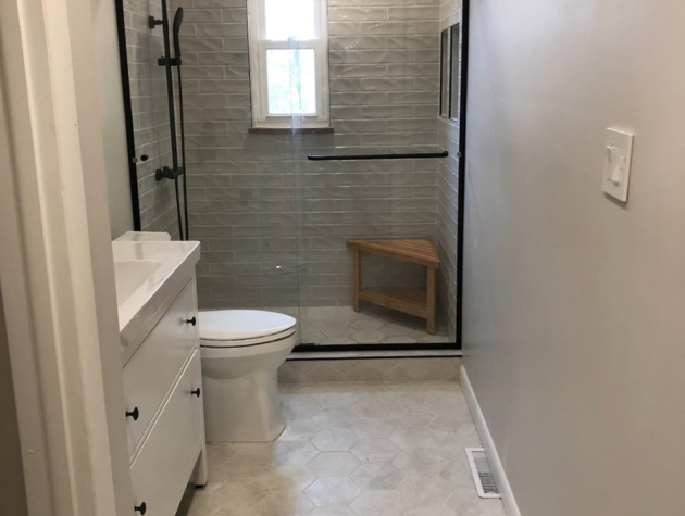 New Modern Bathroom (After Photo)